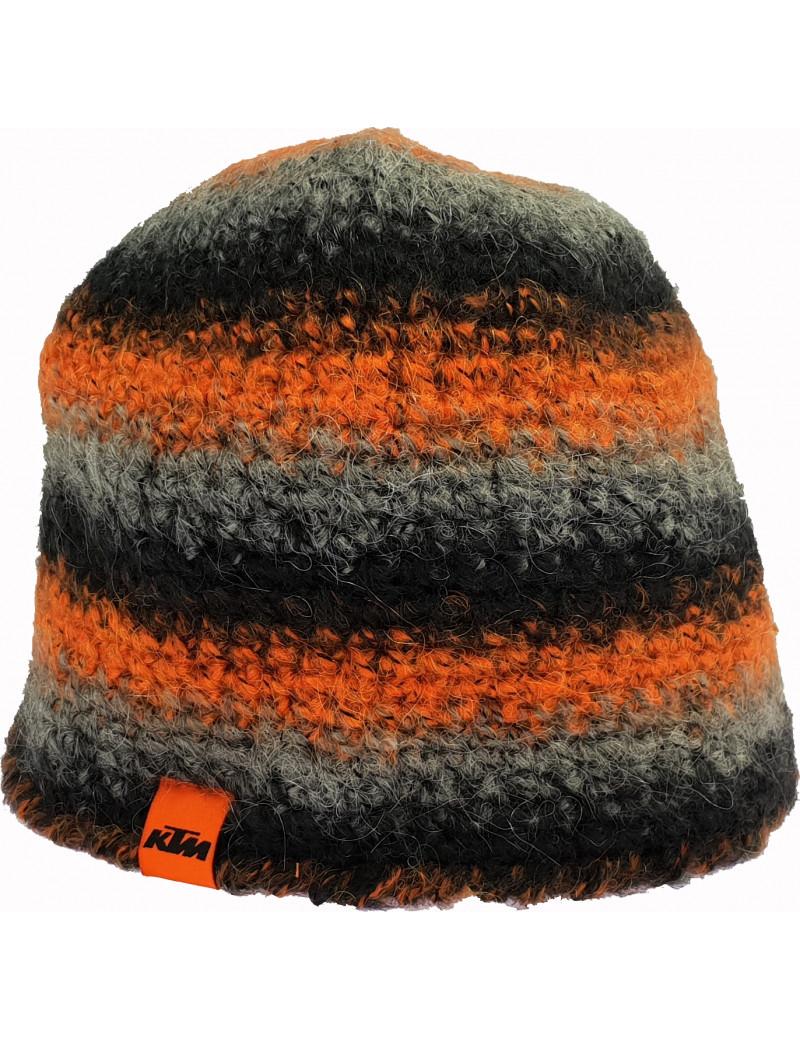 Bonnet crocheté KTM 2016 Orange noir gris